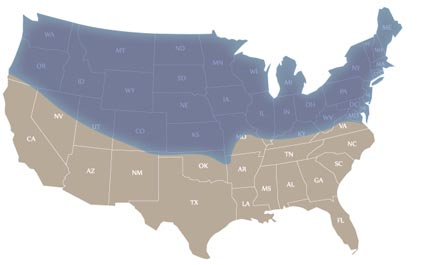 Nationwide Cold Map