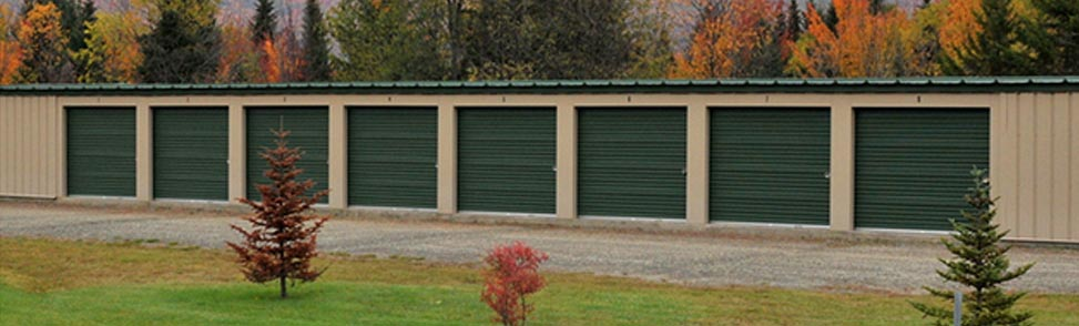 Storage units in the autumn season