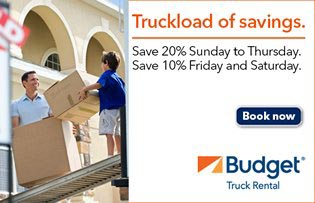 Promotional Ad for Budget Truck Rental