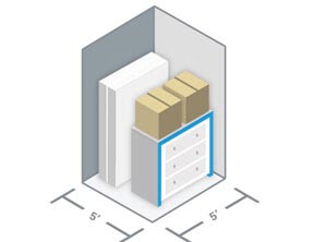 Diagram of 5 by 5 Storage Units